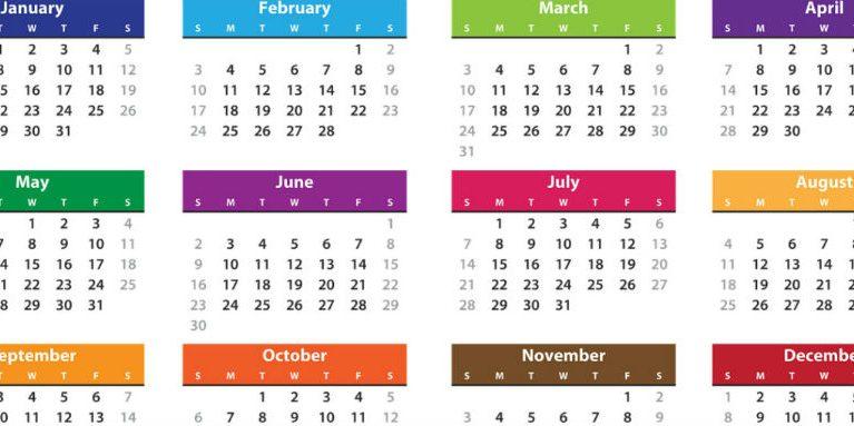 Relación de Fiestas Laborales para el 2019 de todas las CCAA para confeccionar el calendario laboral